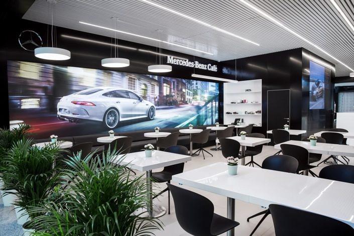 Mercedes-Benz Cafe аэропорт Шереметьево